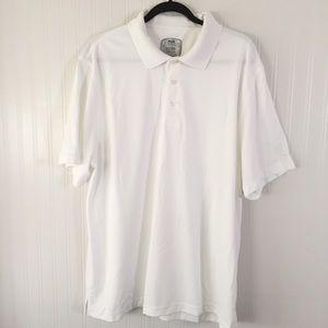 PGA Tour White Fitted Golf Shirt sz XXL